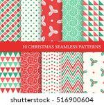 ten christmas different... | Shutterstock .eps vector #516900604