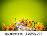 summer bouquet of yellow daisies | Shutterstock . vector #516902074
