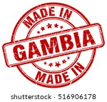 made in gambia. stamp. | Shutterstock .eps vector #516906178