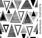 vector geometric ethnic pattern ...   Shutterstock .eps vector #516910276