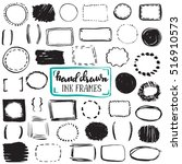 set of sketch drawn frames.... | Shutterstock .eps vector #516910573