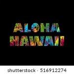 t shirt print on black... | Shutterstock .eps vector #516912274