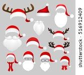 templates for picture reindeer... | Shutterstock . vector #516912409