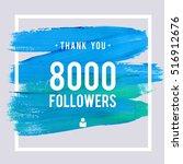 vector thanks design template... | Shutterstock .eps vector #516912676