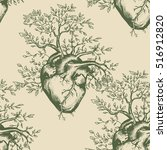 anatomical human heart seamless ... | Shutterstock .eps vector #516912820
