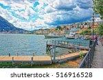 lugano  switzerland   august 26 ... | Shutterstock . vector #516916528