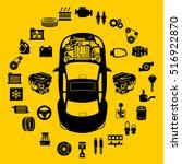 car repair engine vector   Shutterstock .eps vector #516922870