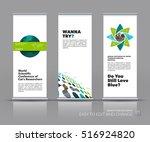 business vector set of modern... | Shutterstock .eps vector #516924820