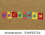uncommon word written on... | Shutterstock . vector #516932716