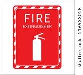 fire extinguisher vector sign | Shutterstock .eps vector #516933058