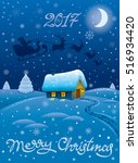 illustration of happy merry... | Shutterstock .eps vector #516934420