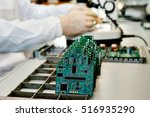 microchip production factory.... | Shutterstock . vector #516935290