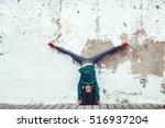 fitness sport girl in fashion... | Shutterstock . vector #516937204