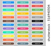 set of colored web buttons. web ... | Shutterstock .eps vector #516940504