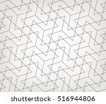 Stock vector abstract geometric pattern with crossing thin lines stylish texture in gray color seamless linear 516944806