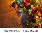 christmas and new year... | Shutterstock . vector #516945760