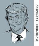 october 30  2016  portrait of... | Shutterstock .eps vector #516953530