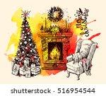 sketch vector illustration... | Shutterstock .eps vector #516954544