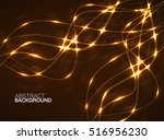 abstract glowing wavy lines ... | Shutterstock .eps vector #516956230
