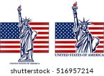 statue of liberty. new york and ... | Shutterstock .eps vector #516957214