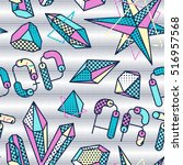 vector seamless pattern with... | Shutterstock .eps vector #516957568
