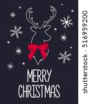 merry christmas greeting card... | Shutterstock .eps vector #516959200