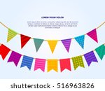 paper party flags | Shutterstock .eps vector #516963826