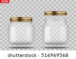 set of glass jars for canning... | Shutterstock .eps vector #516969568