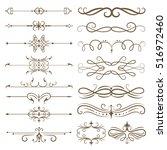 antique decorative elements ... | Shutterstock .eps vector #516972460