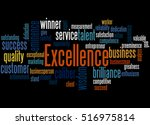 Excellence  Word Cloud Concept...