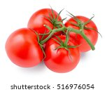 tomatoes isolated on the white... | Shutterstock . vector #516976054