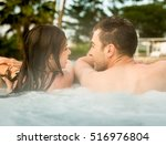 young couple in a luxury hotel... | Shutterstock . vector #516976804