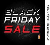 black friday sale. vector... | Shutterstock .eps vector #516977569