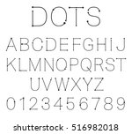 letters and numbers. alphabet... | Shutterstock .eps vector #516982018