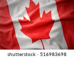 waving colorful national flag... | Shutterstock . vector #516983698