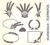 rice set. vector | Shutterstock .eps vector #516986926