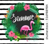 bright summer template with... | Shutterstock .eps vector #516988984