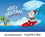 Merry Christmas Cartoon Santa...