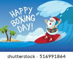 happy boxing day cartoon santa... | Shutterstock .eps vector #516991864
