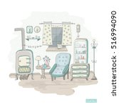Vector Hand Drawn Room. Cute...