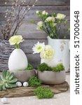 Floral Arrangement With Goose...