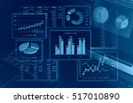 financial graphs analysis  | Shutterstock . vector #517010890
