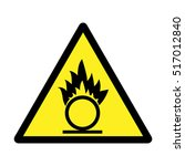 Warning Sign. Oxidizing.