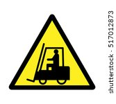 warning forklift sign. | Shutterstock .eps vector #517012873