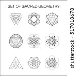 set of sacred geometry. | Shutterstock .eps vector #517018678