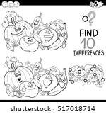 black and white cartoon... | Shutterstock .eps vector #517018714