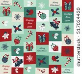 christmas and new year seamless ...   Shutterstock .eps vector #517024420