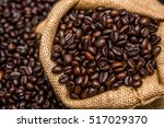roasted coffee beans | Shutterstock . vector #517029370