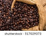 roasted coffee beans | Shutterstock . vector #517029373