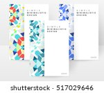 geometric background template... | Shutterstock .eps vector #517029646